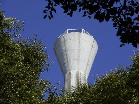 water tower: Water tower of collective housing