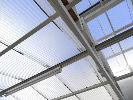 tin: Vinyl tin roof for daylighting