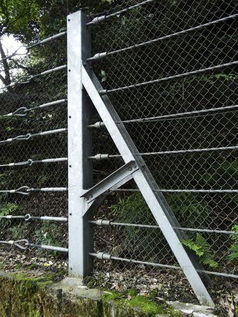 rockfall: Rockfall protection net of mountain