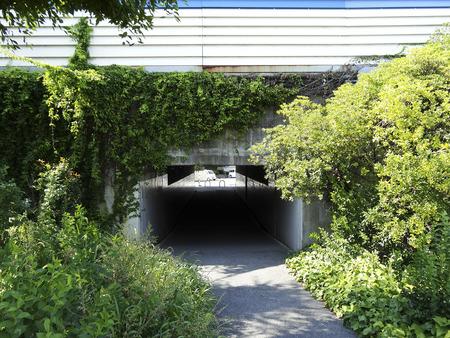 transverse: Meishin transverse tunnel Stock Photo