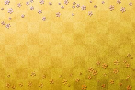 gold leaf: Gold leaf and cherry pattern