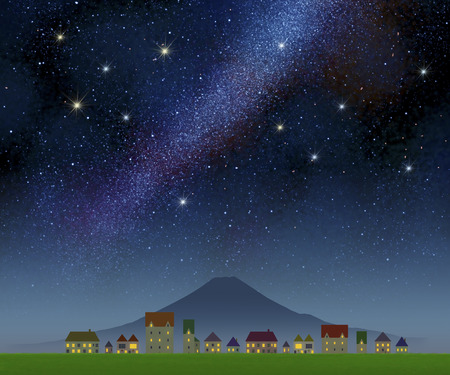 Streets and starry sky Standard-Bild