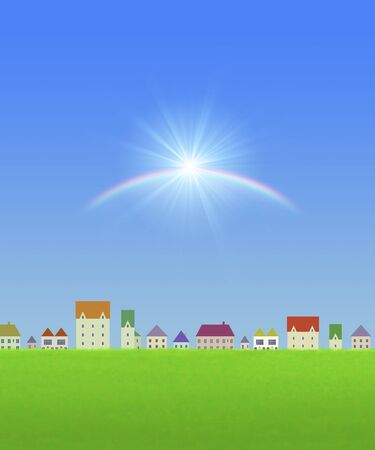 residency: Townscapes and rainbow and sun
