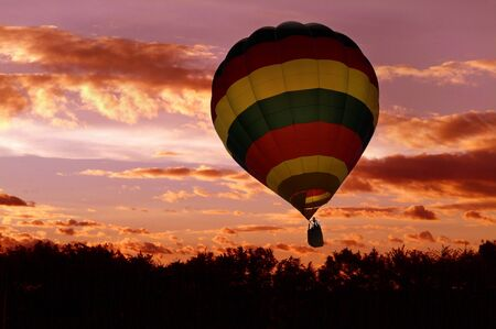 flying float: Hot air balloon Stock Photo