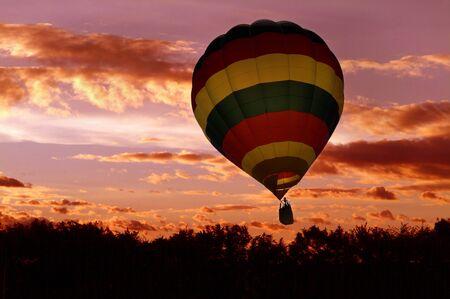 dawning: Hot air balloon Stock Photo