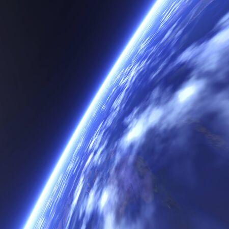 ozone layer: Blue Earth Stock Photo