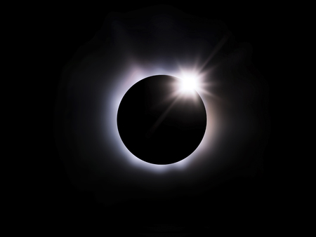 eclipse: Total solar eclipse