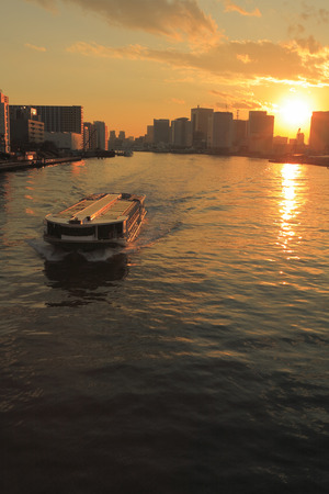 estuary: Sumida River estuary sunset