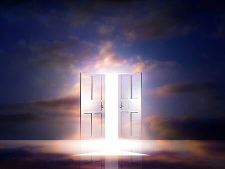 pleasent: Door light comes