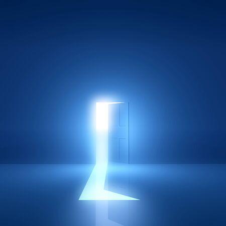 Door light comes Stock fotó - 43045307