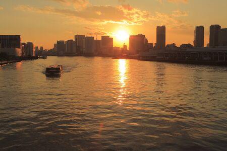 sumida: Sumida River estuary sunset