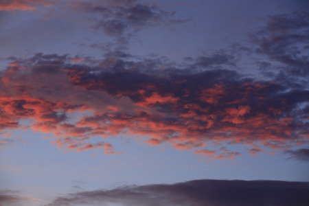 gleaming: Sunset clouds Stock Photo