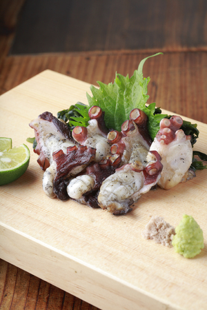 broiled: Octopus Broiled Stock Photo