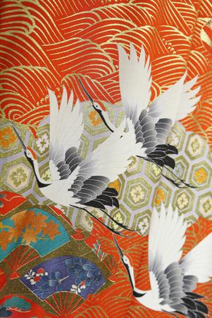 着物の鶴柄