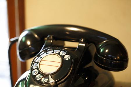 retro: Black telephone