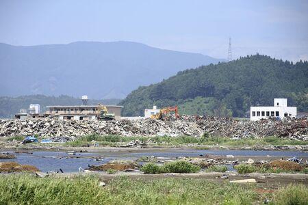 Disaster area temporary housing Stock Photo