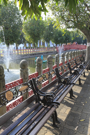 Bench along the canal