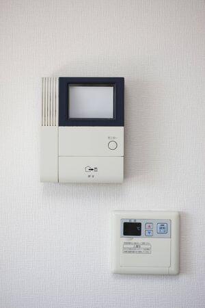 interphone: Intercom and hot water supply Stock Photo