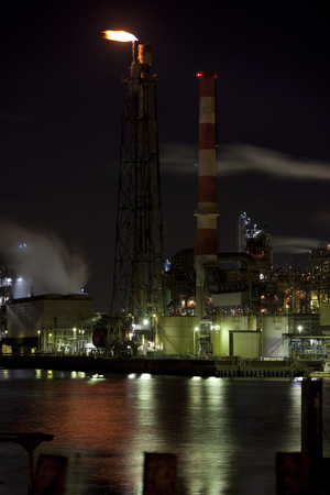 kanagawa: Industrial facilities Stock Photo