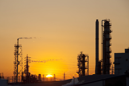 the setting sun: Industrial facilities and the setting sun