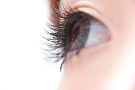 pesta�as postizas: False eyelashes Foto de archivo