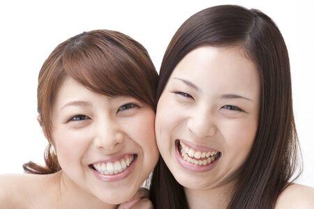 beauty girls: Two smiling women