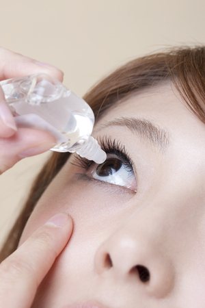 refers: Women who refers to eye drops