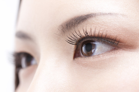 eyelids: Lashes Stock Photo