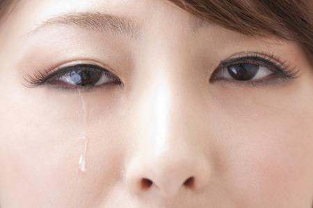 Women shed tears