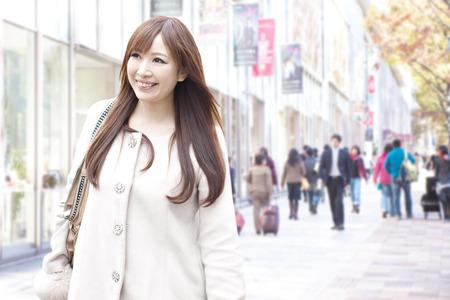 omotesando: Woman walking Omotesando
