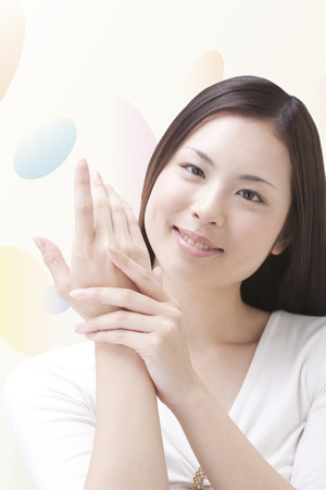 hand care: Hand skin care Stock Photo
