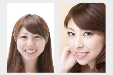 Makeup before after