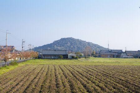 vacant lot: Fujiwara-Kyo sites Stock Photo