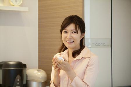 intermission: Woman drinking coffee