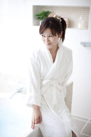 oriental bathrobe: Women dressed in bathrobe
