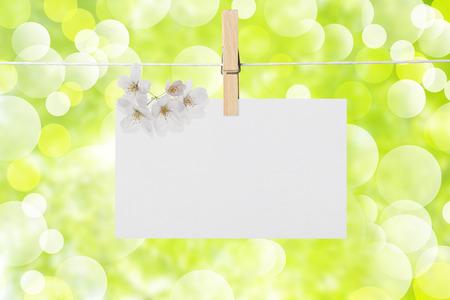 blank photo: Message card Stock Photo