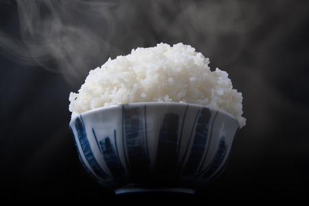 Large white rice Stock Photo