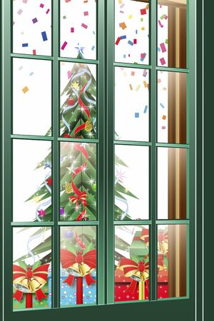 residency: Christmas that is visible through the window