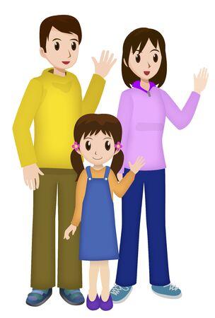 asian family: Family Stock Photo