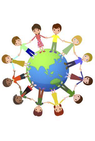 Barn i världen Stockfoto - 47744886