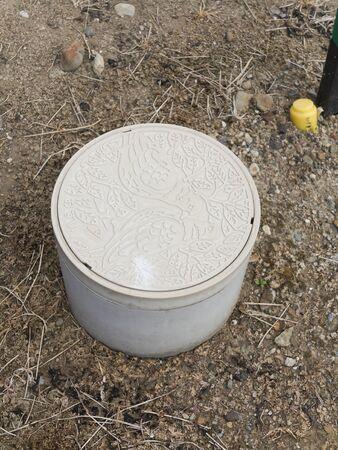 sewage: Sewage pipes Stock Photo