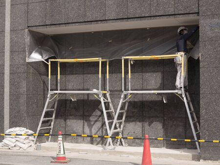 refurbishing: Outer wall construction of the building