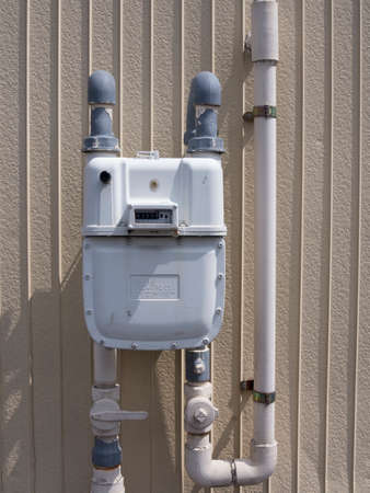 ガスのメーター 写真素材