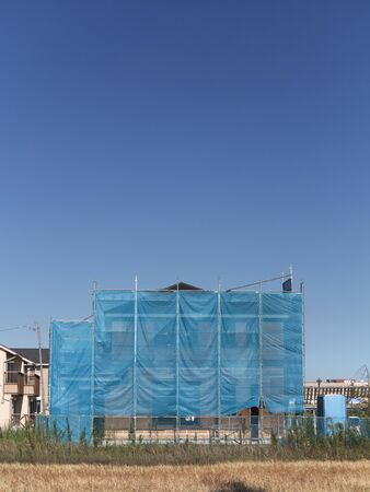 建設中住宅 写真素材