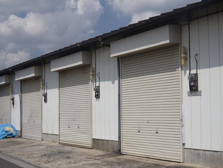 storeroom: Rental warehouse Stock Photo