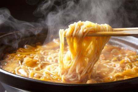 煮込み麺 写真素材