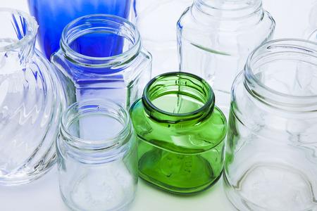 reciclable: botella vac�a de residuos reciclables Foto de archivo