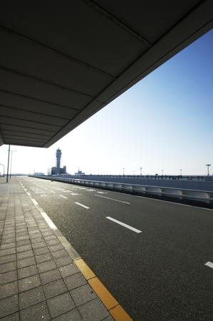 return trip: Kansai Airport within the facility Stock Photo