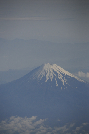 lingering: Fuji of the summer to see from an airplane Stock Photo