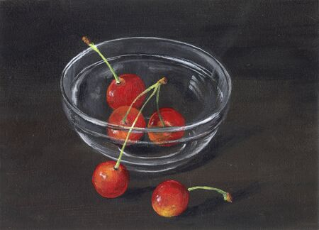 fine art painting: Cherries
